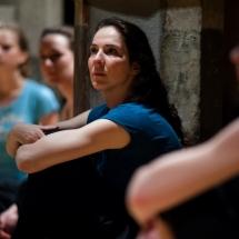 Agnieszka Pietkiewicz during work session by Roberta Secchi (Italy), May 2011, photo Maciej Zakrzewski