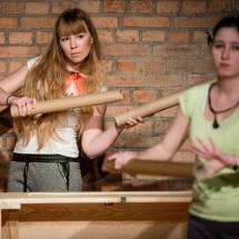 Małgorzata Rakowska i Sara Piechaczyk, Etiudy teatralne, 2014, fot. Maciej Zakrzewski