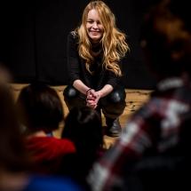 Marta Cichosz, Etiudy teatralne, podsumowanie, 24 stycznia 2017. Fot. Maciej Zakrzewski