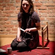 Paulina Wawrzynowicz, Etiudy teatralne, podsumowanie, 24 stycznia 2017. Fot. Maciej Zakrzewski