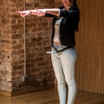 Ana PEDRO VENTURA (Spain) at Acting craft class, AMU-PIE, Theatre Studio AMU, January 2017. Photo Maciej Zakrzewski