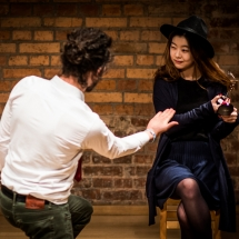 Furkan ATAN (Turkey) and PARK Jihyun (South Korea) at Acting craft class, AMU-PIE, Theatre Studio AMU, January 2017. Photo Maciej Zakrzewski
