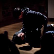 SEO Won-jin and LIM Jeesu from South Korea at Acting craft class, AMU-PIE, Theatre Studio AMU, January 2017. Photo Maciej Zakrzewski