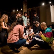 Acting craft class, AMU-PIE, Theatre Studio AMU, January 2017. Photo Maciej Zakrzewski